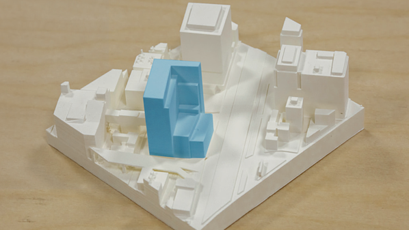 3D printed context study architecture