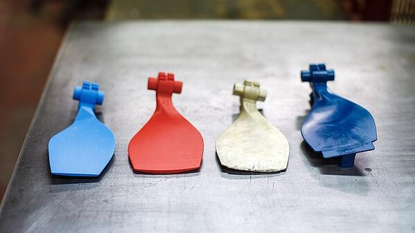 3D printed prototype iterations