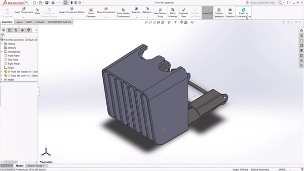 Export-Ultimaker-Cura-SOLIDWORKS